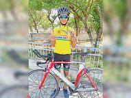 किसान की बेटी हर्षिता ने राष्ट्रीय प्रतियोगिता में 2.59 मिनट में 2 किमी साइकिल चला जीता गोल्ड|श्रीगंंगानगर,Sriganganagar - Dainik Bhaskar