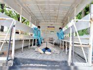 श्मशानों में 34 शव, हॉस्पिटल में 317 नए मरीज, ऑक्सीजन संकट, इंजेक्शन का झगड़ा...क्योंकि आप लॉकडाउन में भी घर नहीं रुके|उज्जैन,Ujjain - Dainik Bhaskar