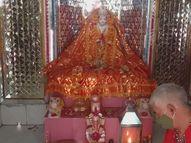 कोरोना से पहले 50 हजार से ज्यादा भक्त दर्शन करने आते थे, इस बार जंगल में माता और पुजारी|अलवर,Alwar - Dainik Bhaskar