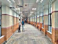 सदर अस्पताल के नए भवन का तीसरा तल्ला तैयार, 100 कोविड बेड बढ़ेंगे|रांची,Ranchi - Dainik Bhaskar