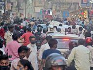 सख्ती पर भी देर शाम तक बाजार में भीड़, व्यवसायियों की अपील- दिन में ही करें खरीदारी|मुजफ्फरपुर,Muzaffarpur - Dainik Bhaskar