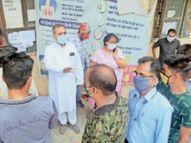 नगर विधायक शैलेष ने सिम्स व जिला अस्पताल का निरीक्षण किया, कोरोना पीड़ितों के उपचारार्थ मुख्यमंत्री सहायता कोष में एक महीने का वेतन दिया|बिलासपुर,Bilaspur - Dainik Bhaskar