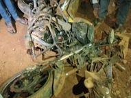 डंपर की टक्कर से बाइक सवार युवक गंभीर; गुस्साए परिजनों ने इलाज की जगह लगाया जाम, इलाज की देरी से युवक की मौत|रीवा,Rewa - Dainik Bhaskar