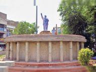 संसद भवन की तरह यहां शहर में बन रहा अंबेडकर सर्किल, प्रदेश का पहला|श्रीगंंगानगर,Sriganganagar - Dainik Bhaskar