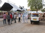 सरकारी आंकड़ों में अप्रैल में 29 संक्रमितों की मौत ही बताई; हकीकत- शमशान में 14 दिनों में कोविड गाइड लाइन से 42 का अंतिम संस्कार|ग्वालियर,Gwalior - Dainik Bhaskar