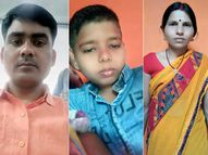 जोड़ापोखर थाना के मुंशी खुद कार चला पत्नी और बेटे को इलाज के लिए ले जा रहे थे रांची, NH-39 पर ट्रक की टक्कर से गई तीनों की जान; एक जख्मी|धनबाद,Dhanbad - Dainik Bhaskar