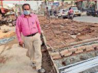 बिना खुदाई क्लब रोड में पीसीसी सड़क ढलाई शुरू, सात से दो गुनी बढ़ा कर 14 मीटर चौड़ी होगी ढलाई|मुजफ्फरपुर,Muzaffarpur - Dainik Bhaskar