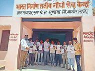 सीएम चिरंजीवी स्वास्थ्य बीमा योजना के अंतर्गत 63 लोगों का किया गया बीमा|नागौर,Nagaur - Dainik Bhaskar