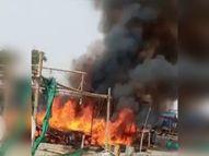 हरियाणा में कुंडली बॉर्डर पर किसानों की झोपड़ियों में लगी आग, किसान नेता बलदेव सिंह सिरसा बोले- सरकार कर रही तोड़ने की कोशिश|सोनीपत,Sonipat - Dainik Bhaskar