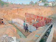 मरीन ड्राइव की पथरीली जमीन के कारण धीमा हुआ एसटीपी के लिए पाइप बिछाने का काम|रायगढ़,Raigarh - Dainik Bhaskar