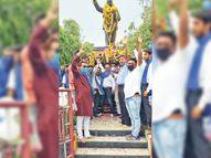 शहरवासी बाेले-युवाओं काे डाॅ. अंबेडकर के बताए मार्ग पर चलना चाहिए, तभी देश का विकास हाेगा|उदयपुर,Udaipur - Dainik Bhaskar