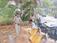 बिना मास्क लगाए लोगों से वसूला गया जुर्माना, कई ने की उठक-बैठक|पटना,Patna - Dainik Bhaskar
