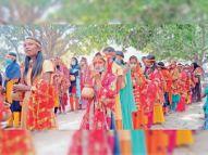 मां दुर्गा की प्राणप्रतिष्ठा के लिए निकाली गई कलशयात्रा|पटना,Patna - Dainik Bhaskar