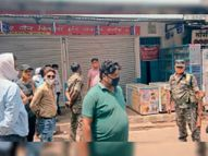 पारसनाथ में काेराेना संक्रमित महिला की माैत, पुलिस ने मधुबन बाजार बंद कराया|पारसनाथ,Parasnath - Dainik Bhaskar