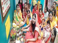 कोरोना गाइडलाइन पर घर से नहीं निकली माता गणगौर, रघुनाथ मंदिर में ही दे रही दर्शन, नवविवाहिताओं ने घरों में पूजन कर किया उ़द्यापन|सीकर,Sikar - Dainik Bhaskar