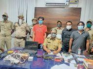 आईपीएल मैच पर सट्टा खिलाते तीन गिरफ्तार|सीकर,Sikar - Dainik Bhaskar