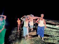 रात 9 बजे मरीज को खाट पर लाद 8 किमी चले|भागलपुर,Bhagalpur - Dainik Bhaskar