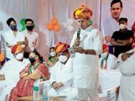 वैभव गहलोत ने सहाड़ा विधानसभा क्षेत्र में कांग्रेस के लिए किया प्रचार|भीलवाड़ा,Bhilwara - Dainik Bhaskar