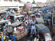 वीकेंड लॉकडाउन से पहले बाजारों में भीड़, मुख्य मार्गों पर लगा जाम; कोरोना प्रोटोकॉल उल्लंघन पर कोचिंग इंस्टीट्यूट, होटल, ट्रेवल्स ऑफिस सील, जुर्माना भी लगाया|अजमेर,Ajmer - Dainik Bhaskar