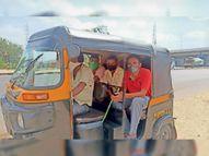 सवारी मिलना बंद हुई तो अब उसी ऑटो से महाराष्ट्र से लौट रहे गांव देवास,Dewas - Dainik Bhaskar