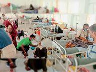 हर दूसरे मरीज को ऑक्सीजन की जरूरत, सारे बेड फुल, भर्ती करने की जगह नहीं बची झाबुआ,Jhabua - Dainik Bhaskar