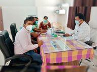कोरोनाकाल में कर्मचारियों के लिए विशेष इंतजाम करने की रखी मांग|कवर्धा,Kawardha - Dainik Bhaskar