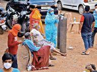 एक जिंदा जला, चार का दम घुटा; धधकते आईसीयू से निकाला, सड़क पर लगाई आक्सीजन, 3 घंटे बाद दूसरे अस्पताल में|रायपुर,Raipur - Dainik Bhaskar