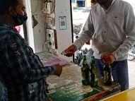 कोटा में अनुशासन पखवाड़ा में खुली शराब की दुकानें, छिपते छिपाते दुकानों पर पहुंचे ग्राहक|कोटा,Kota - Dainik Bhaskar