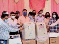 10 लीटर क्षमता वाली 4 ऑक्सीजन कंसेंट्रेटर दी खंडवा,Khandwa - Dainik Bhaskar