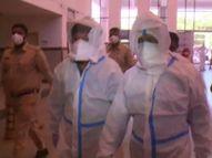 प्रिंसिपल का पद संभालते ही PPE किट पहन कोरोना वार्डों का जायजा लेने पहुंचे डॉ. राठौड़; व्यवस्थाओं में सुधार के लिए फीडबैक लिया|जोधपुर,Jodhpur - Dainik Bhaskar