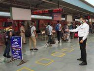 आरपीटीसीआर रिपोर्ट के साथ आने वाले यात्रियों के लिए ग्रीन चैनल, बचने लगा यात्रियों का समय|जोधपुर,Jodhpur - Dainik Bhaskar