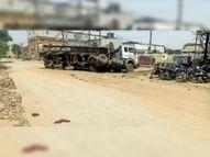ओल्ड इंडस्ट्रियल एरिया में अधूरे पड़े सड़कों के निर्माण से पलट रहे वाहन|पानीपत,Panipat - Dainik Bhaskar