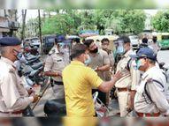बाजार में सख्ती की तो गलियों में खुली दुकानें पुलिसकर्मियों ने बंद कराईं, 7 पर एफआईआर|ग्वालियर,Gwalior - Dainik Bhaskar