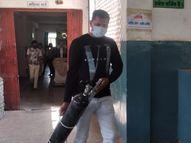 जिला अस्पताल में भर्ती मरीजों के परिजन 15 हजार तक देने के लिए तैयार, फिर भी नहीं मिल रहा सिलेंडर|बांसवाड़ा,Banswara - Dainik Bhaskar