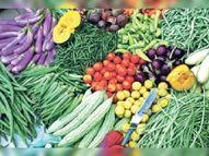 लॉकडाउन लागू होने के बाद, सब्जियों की बिक्री 20 प्रतिशत तक बढ़ी|उदयपुर,Udaipur - Dainik Bhaskar