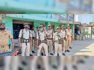 पुलिस असामाजिक तत्वाें पर लगातार नजर बनाए हुए है, फरार आरोपियों की गिरफ्तारी के लिए छापेमारी जारी है|बेनीपट्टी,Benipatti - Dainik Bhaskar