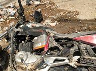 मारपीट का बदला लेने युवक के घर पहुंचे बदमाश, घर पर पथराव करने के बाद बाहर खड़ी बाइक पर लिक्विड डाल कर दिया आग के हवाले इंदौर,Indore - Dainik Bhaskar