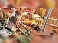 सप्तमी पर मंदिरों में हुई पूजा, नवमी कल इस बार एक कन्या को ही कराएं भोजन रायगढ़,Raigarh - Dainik Bhaskar