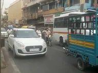 जोधपुर में सामान्य दिनों की तरह सड़कों पर भीड़, बस बंद दुकानें देखकर हो रहा लॉकडाउन का अहसास|जोधपुर,Jodhpur - Dainik Bhaskar