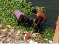 सुसाइड करने ब्रिज से नदी में कूद गई चार बच्चों की मां, पानी कम था तो डूब न सकी, लोगों ने बचाया|बिलासपुर,Bilaspur - Dainik Bhaskar