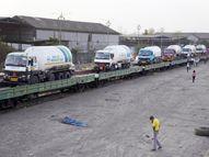 मुंबई से ऑक्सीजन लेने विशाखापत्तनम के लिए निकली देश की पहली 'RO-RO ट्रेन', टैंकरों के लिए सिर्फ 24 घंटे में तैयार हुआ रैंप|महाराष्ट्र,Maharashtra - Dainik Bhaskar