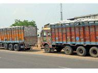 अब भी हो रही ओवरलोडिंग, विपणन संघ ट्रकों की जांच कर रहा ना कार्रवाई खंडवा,Khandwa - Dainik Bhaskar