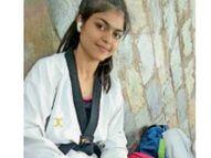 ताइक्वांडो में ओलिंपिक जाने से चूकी पानीपत की बेटी तनुजा, फाइनल राउंड में एक पॉइंट से हारीं|पानीपत,Panipat - Dainik Bhaskar