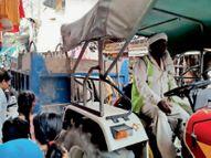 नगर निगम ने इंसार बाजार की दुकानाें के आगे से सड़काें पर रखा सामान किया जब्त|पानीपत,Panipat - Dainik Bhaskar