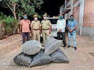 अणखिया इलाके में पुलिस टीम ने दबिश देकर 98 किलो अवैध डोडा पोस्त बरामद किया|बाड़मेर,Barmer - Dainik Bhaskar