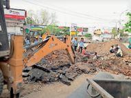 लॉकडाउन में काम की छूट, फिर भी रफ्तार ढीली|बिलासपुर,Bilaspur - Dainik Bhaskar