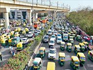 लॉकडाउन की घोषणा की सूचना मिलते ही प्रवासी श्रमिक अपने मूल स्थानों पर लौटने के लिए बस स्टेशनों पर जुटने लगे|दिल्ली + एनसीआर,Delhi + NCR - Dainik Bhaskar