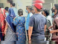 निजी लैब में जांचें बंद इसलिए जेएएच में सैंपल के लिए 3 से 4 घंटे की वेटिंग|ग्वालियर,Gwalior - Dainik Bhaskar