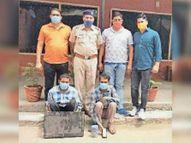 घर व फैक्ट्री में चाेरी करने वाले दाे आराेपी गिरफ्तार|पानीपत,Panipat - Dainik Bhaskar