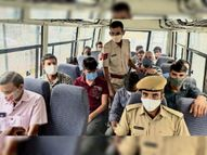 जन अनुशासन के लिए सड़क पर प्रशासन शहर में 76 चालान काटे, 14 प्रतिष्ठान सीज सीकर,Sikar - Dainik Bhaskar
